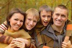 Happy family relaxing Stock Image
