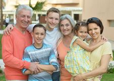 Happy family at resort Stock Image