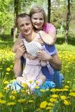 Happy family resting Stock Photos