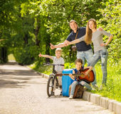 Happy family resting royalty free stock images