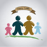 Happy family ribbon Stock Photo