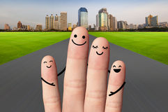 Happy family on the road. travel, environmental protection conce Stock Photography