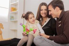 Happy family in room Royalty Free Stock Photo