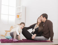 Happy family in the room Royalty Free Stock Images
