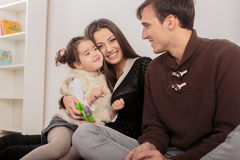 Happy family in the room Stock Photo