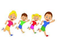 Happy family running Royalty Free Stock Photography