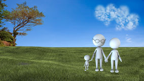 Happy family scene outdoors Stock Images