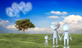 Happy family scene outdoors Royalty Free Stock Photos