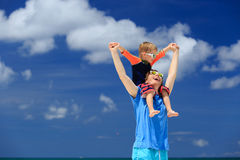 Happy family on sea vacation Stock Image