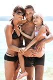 Happy family on seashore Royalty Free Stock Photography