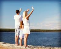 Happy family at the seaside Royalty Free Stock Photo