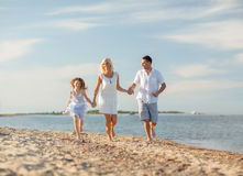Happy family at the seaside Royalty Free Stock Photography