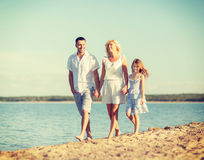Happy family at the seaside Royalty Free Stock Image