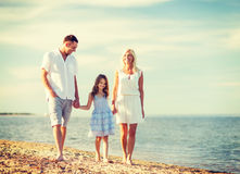 Happy family at the seaside Royalty Free Stock Photo