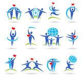 Happy family set of icons and elements Royalty Free Stock Photo