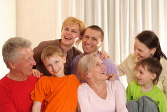 Happy family of seven Royalty Free Stock Images