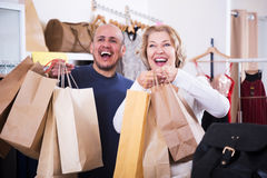 Happy family are shopping Royalty Free Stock Images