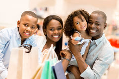 Happy family shopping Royalty Free Stock Image