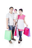 Happy family shopping together Stock Photography