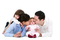 Happy family showing affection Stock Photo