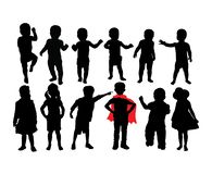 Baby and Kid Silhouettes, art vector design vector illustration