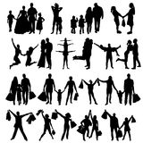 Happy Family Silhouettes . Vector Stock Photo