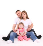 Happy family sits together. Stock Photography