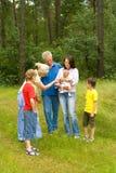 Happy family of six Royalty Free Stock Image