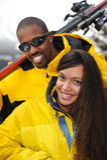 Happy Family at Ski Resort Royalty Free Stock Photography