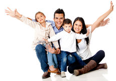 Happy family smiling Stock Image