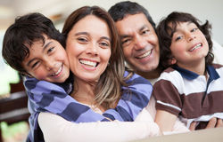 Happy family smiling Stock Photography