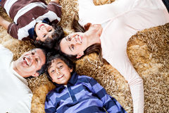 Happy family smiling Royalty Free Stock Image