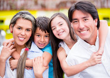 Happy family smiling Royalty Free Stock Photo