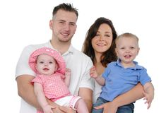 Happy family smiling Royalty Free Stock Photos