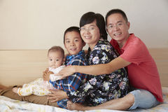 Happy families smiling Royalty Free Stock Photo