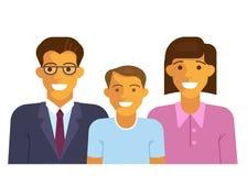 Happy family smiling stock illustration