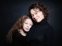 Happy Family. Smiling Mom and Daughter Royalty Free Stock Photos