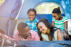 Happy family smiling Royalty Free Stock Images