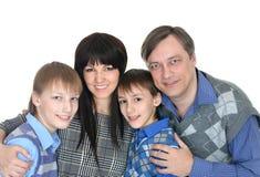 Happy family smiling Stock Photos