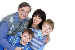 Happy family smiling Royalty Free Stock Photo