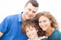 Happy family smiling together Stock Image