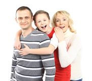 Happy family smiling together Royalty Free Stock Image
