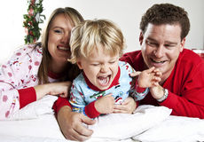 Happy Family snuggle Royalty Free Stock Image