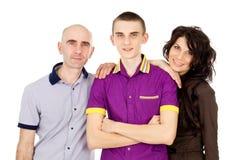 Happy family with son Royalty Free Stock Photos