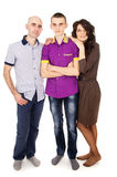 Happy family with son teens Royalty Free Stock Photography