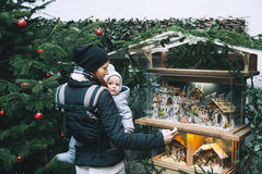Happy family spend time at a Christmas and New Year holidays Stock Image