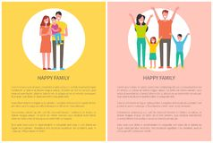 Happy Family Spend Time Together. Parents and kids vector illustration