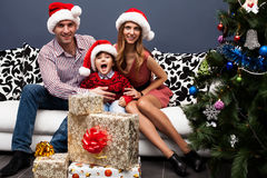 Happy family spending Christmas time Royalty Free Stock Photo