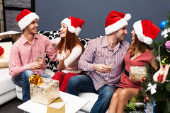 Happy family spending Christmas time Royalty Free Stock Photography