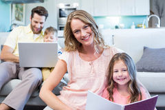 Happy family spending time together Royalty Free Stock Photos